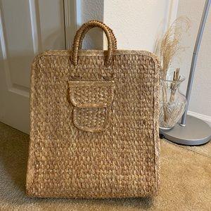 Vintage large straw bag